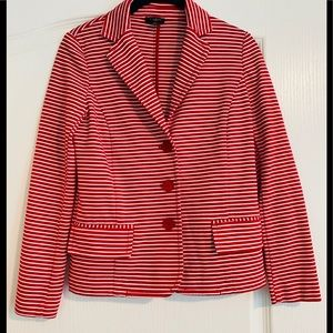 Talbots Womens Striped Jacket